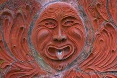 老太阳雕象喷泉 免版税库存照片