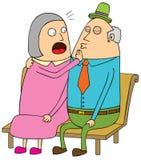 老夫妇约会 免版税库存图片