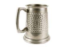 老奖杯大啤酒杯白色 库存图片