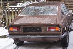 老奥迪100小轿车S 免版税库存照片