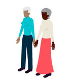 老女同性恋的等量夫妇 免版税库存照片