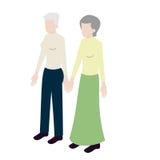 老女同性恋的等量夫妇 库存照片