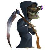 老女性骨骼,死亡 库存例证