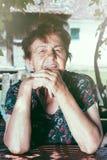 老女性画象 免版税库存图片