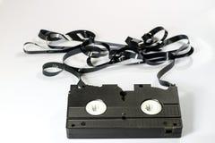老好录象带 在坚实数据的多灰尘的家庭录音 免版税库存图片