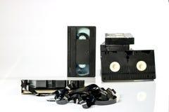 老好录象带 在坚实数据的多灰尘的家庭录音 免版税图库摄影