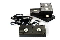 老好录象带 在坚实数据的多灰尘的家庭录音 免版税库存照片