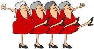 老妇人一排合唱 免版税库存图片