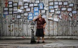 老妇人 免版税图库摄影