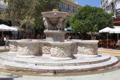 老威尼斯式喷泉在克利特 免版税图库摄影
