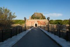 老威尼斯式堡垒在Kerkyra,科孚岛海岛,希腊 免版税库存图片