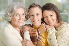 老婆婆、母亲和儿子 免版税库存图片