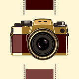 老学校照片照相机 库存图片