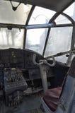 老安托诺夫An-2的驾驶舱 库存照片