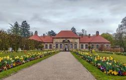 老宫殿在偏僻寺院,拜罗伊特,德国 免版税图库摄影