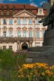 老宫殿在布拉格市大广场  免版税库存照片