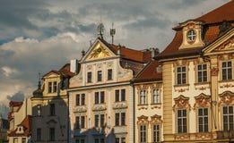 老宫殿在布拉格市Staromestske Namesti广场  库存照片