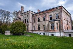 老宫殿在波兰 图库摄影