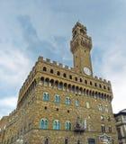 老宫殿,佛罗伦萨的尖沙咀钟楼 免版税图库摄影
