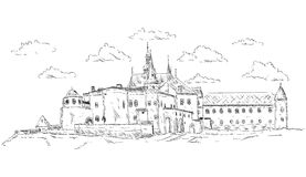老宫殿 免版税库存照片