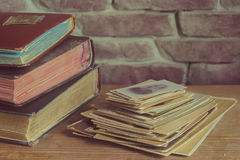老家庭照片册页 免版税库存图片