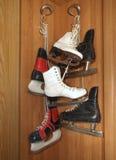 老对冰鞋三 库存照片