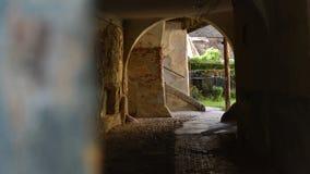 老小屋在锡比乌,特兰西瓦尼亚,罗马尼亚 免版税库存照片