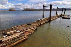 老小游艇船坞在早期的春天 库存照片