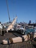 老小船在旧金山港口 免版税库存照片
