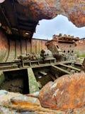老小船引擎自然颜色 免版税图库摄影