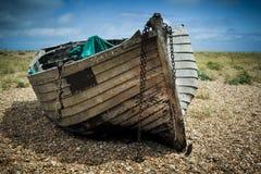 老小船捕鱼 库存照片