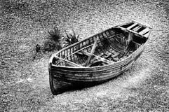 老小船渔夫 免版税库存图片
