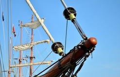 老小船船首斜桅 免版税图库摄影