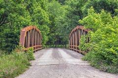 老小马桁架桥 库存图片