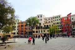 老少数民族居住区在威尼斯 免版税图库摄影