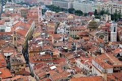 老尼斯屋顶,法国 免版税图库摄影