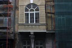 老居民住房整修站点 库存照片