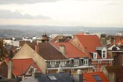 老屋顶城镇 免版税库存照片