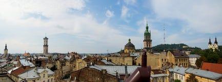 老屋顶城镇 库存照片