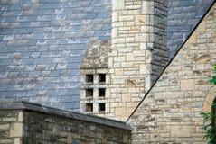 老屋顶板岩 免版税库存图片