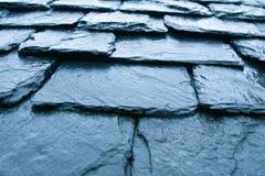 老屋顶板岩 免版税库存照片