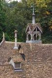 老屋顶稳定 免版税图库摄影