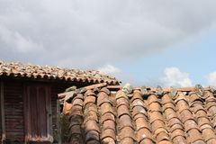老屋顶顶层 免版税库存图片