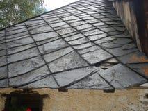 老屋顶 免版税图库摄影