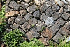 老岩石墙壁纹理  库存图片