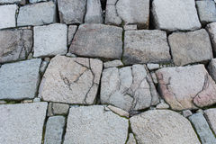 老岩石墙壁 图库摄影