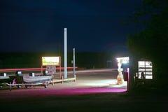 老巡逻驻地在夜之前 库存照片