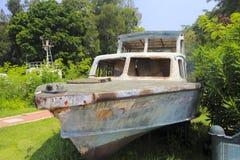 老巡逻艇 库存照片