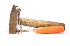 老工具木匠。 免版税库存照片