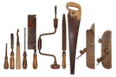 老工具的构成为木头的 库存照片